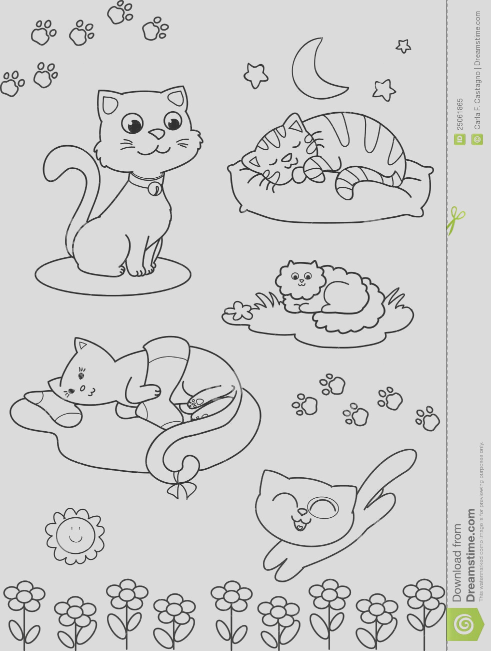 royalty free stock photo cute cartoon cats coloring page image