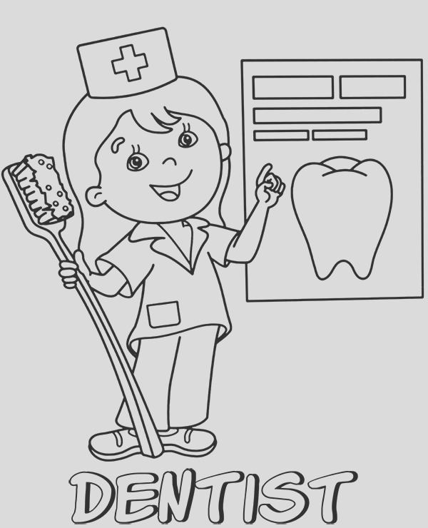 dentist coloring page