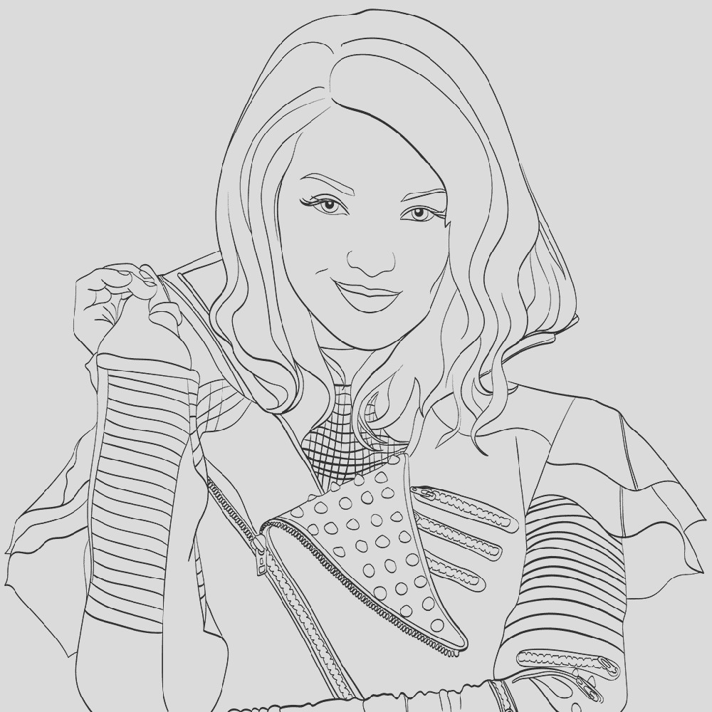 mal coloring pages disney able