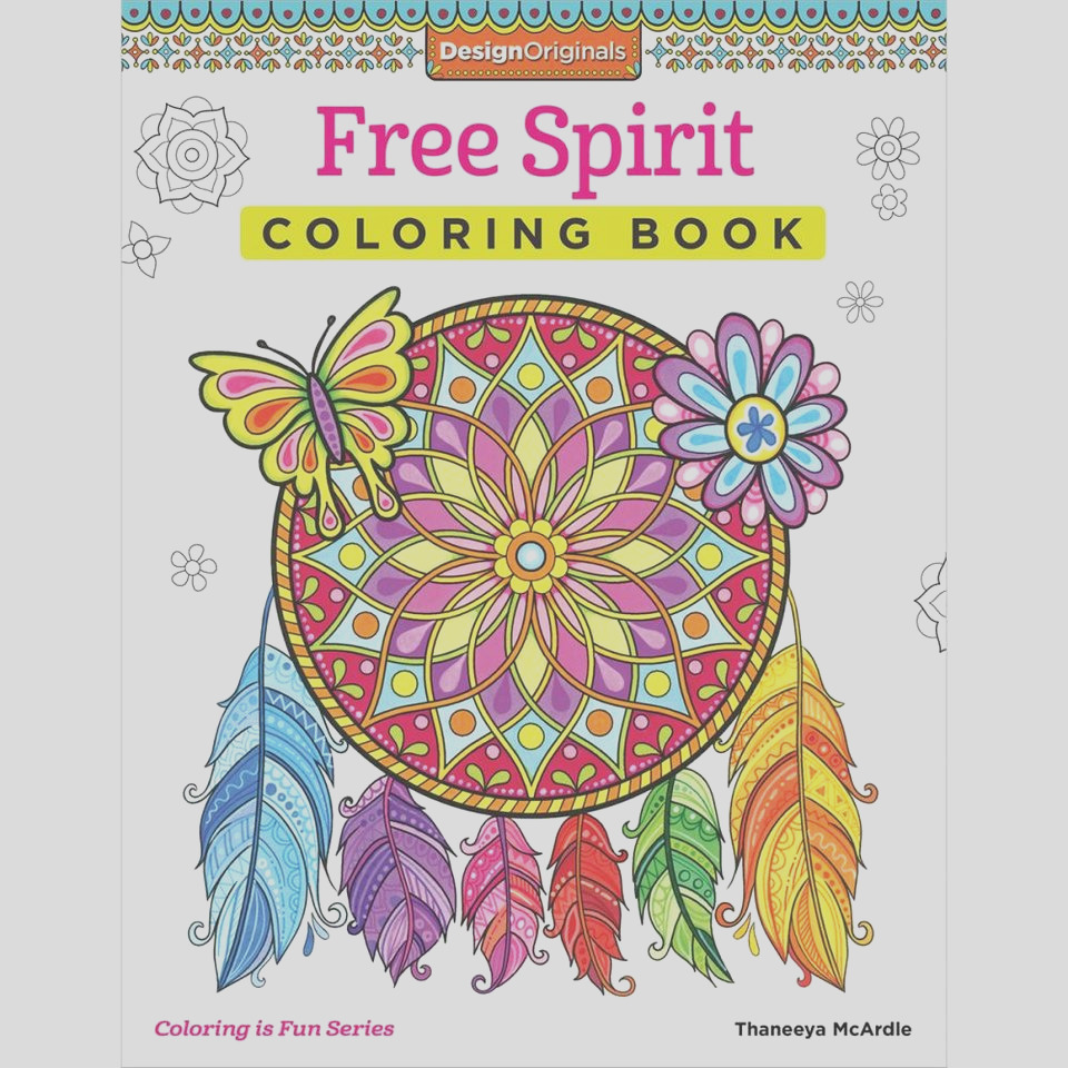 design originals free spirit creative colouring book coloring in for grown ups