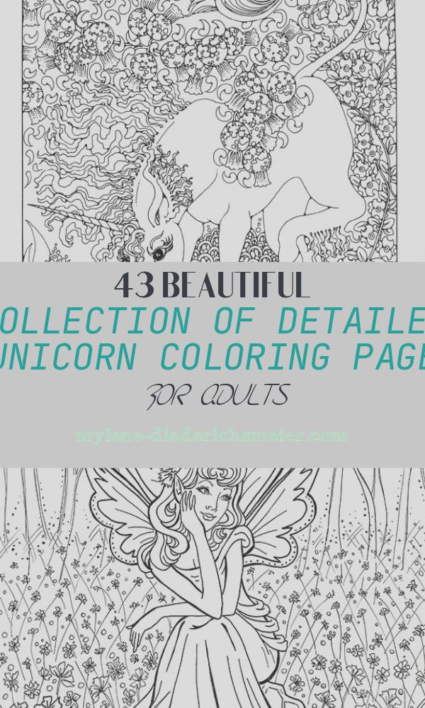 Detailed Unicorn Coloring Page for Adults Awesome Detailed Coloring Pages for Adults