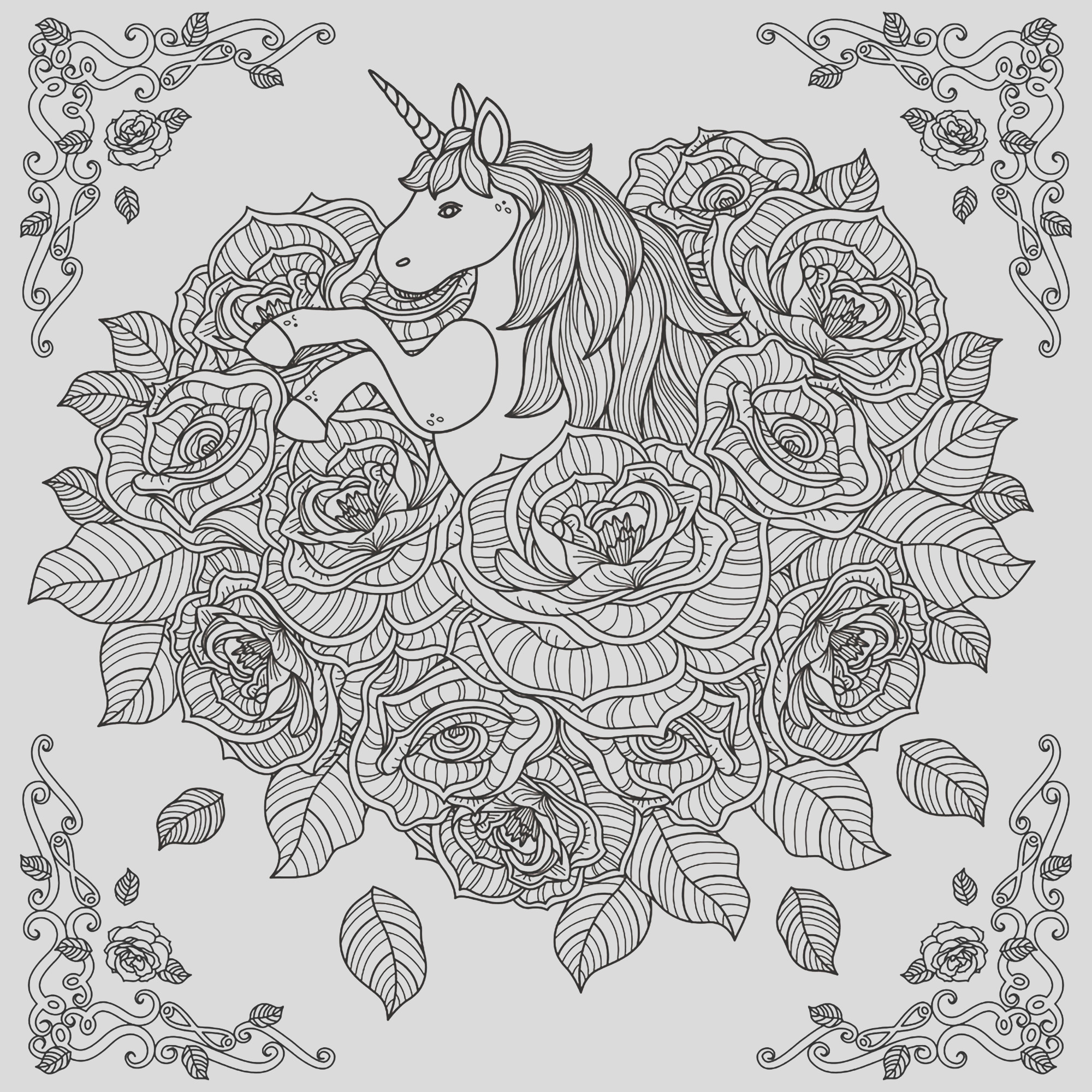 image=unicorns coloring pages adults unicorn mandala by kchung 1