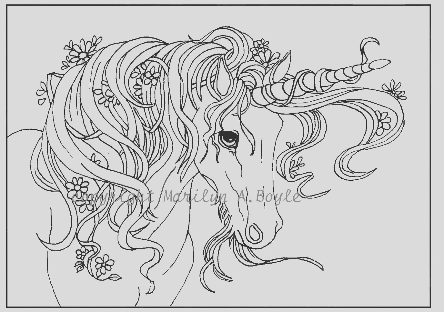 adult coloring page digital