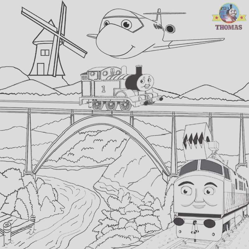 thomas coloring pictures pages to print