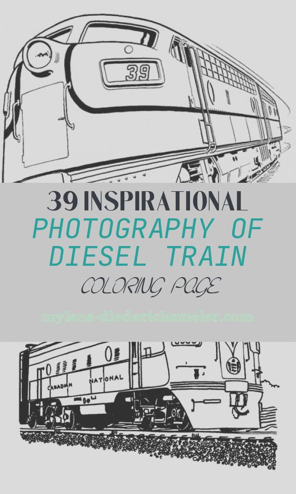 Diesel Train Coloring Page Fresh Set Of Diesel Train and On Railroad Coloring Page