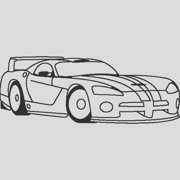dodge viper drag car coloring pages