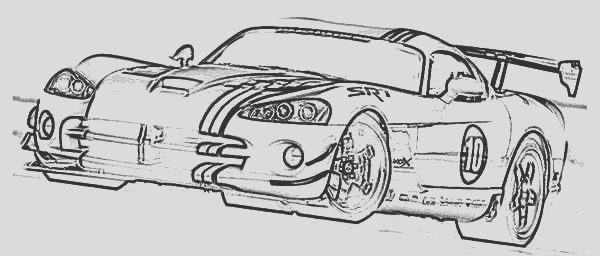 dodge car viper acr x coloring pages