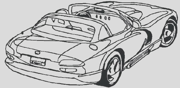 dodge challenger coloring pages