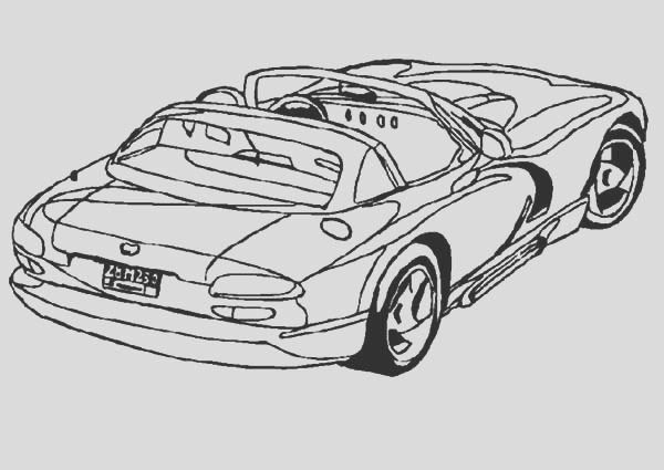 dodge viper coupe car coloring pages