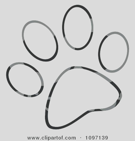 paw print coloring page