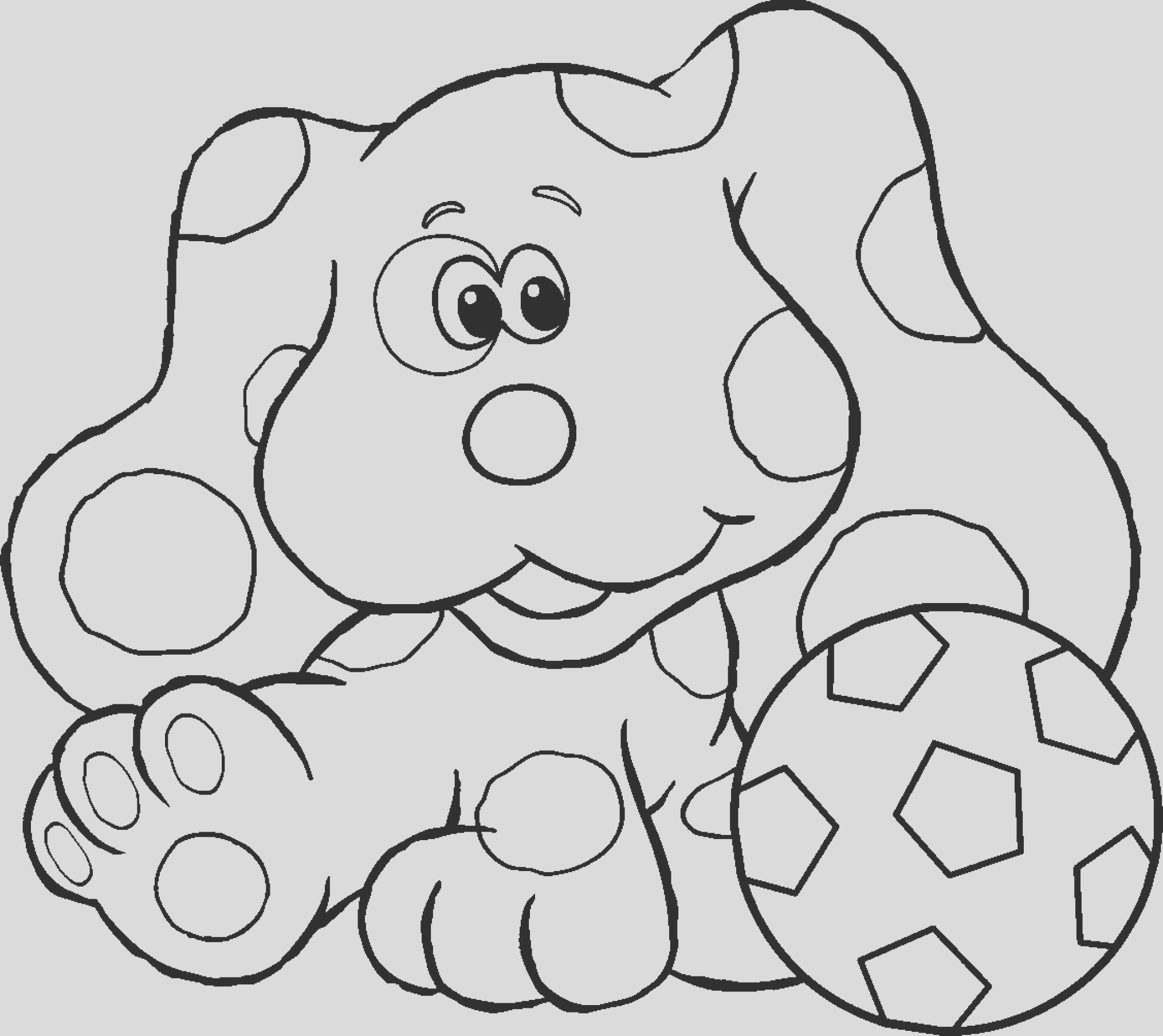 dog paw coloring page