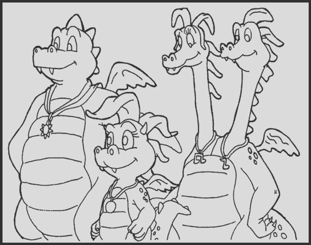 pbs dragon tales pages sketch templates