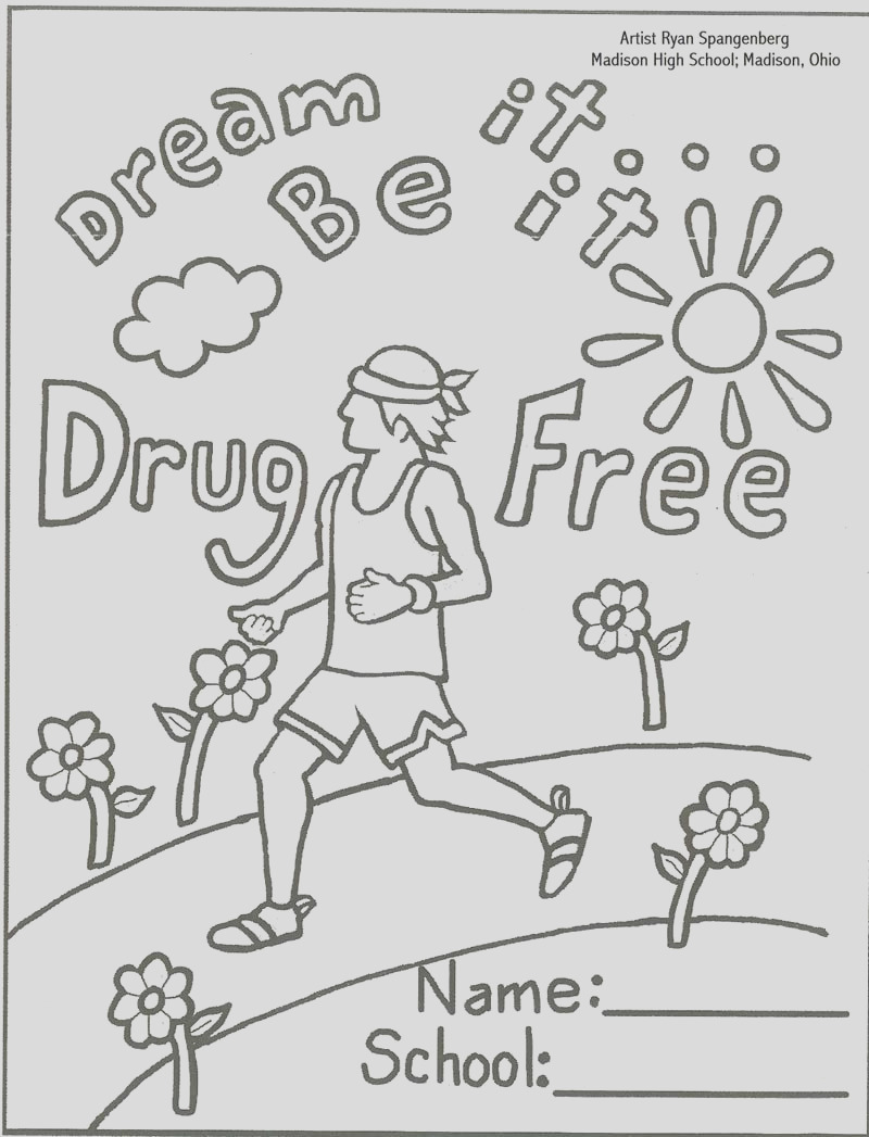 just say no coloring pages 2