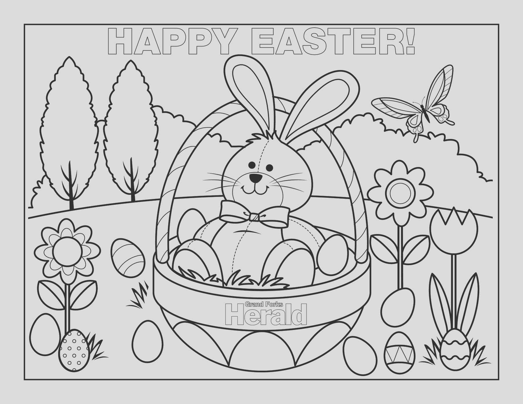 happy easter coloring pages 101
