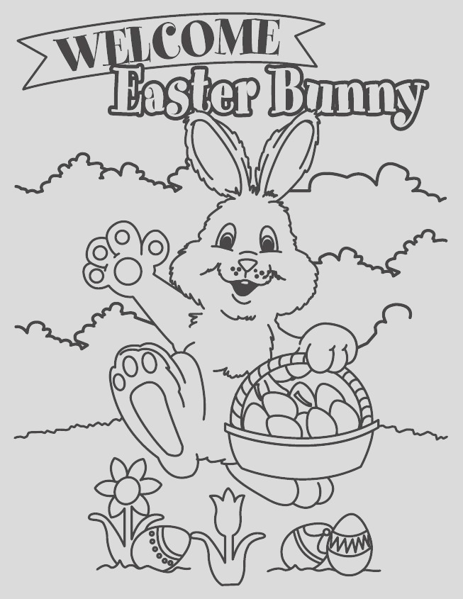 wel e easter bunny coloring page