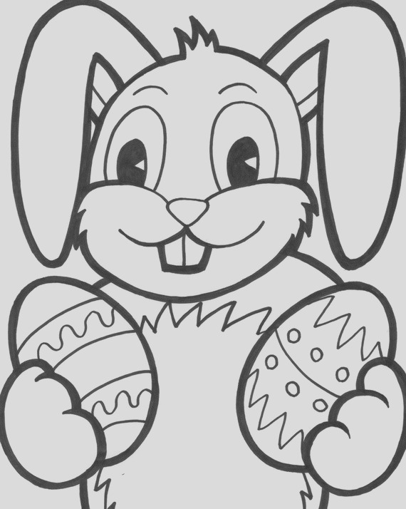 easter bunny coloring pages for kids
