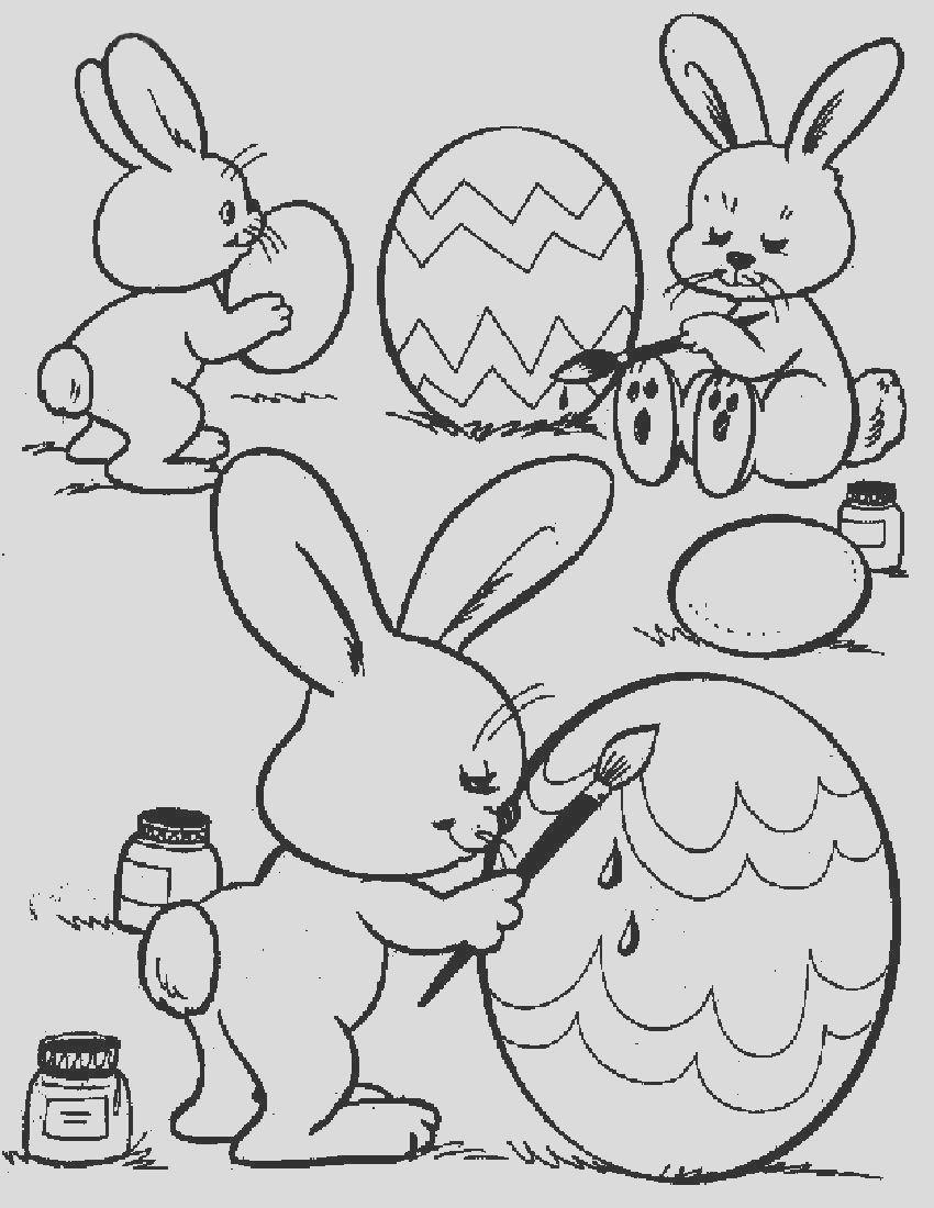easter pages to color