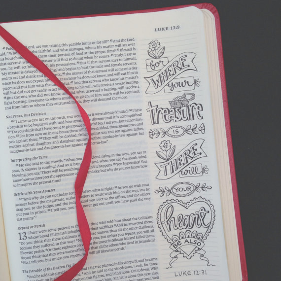 luke 10 13 color your own bible bookmarks