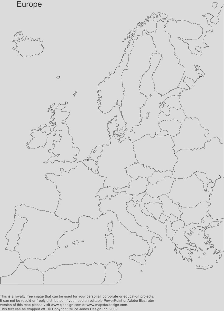 europe coloring map