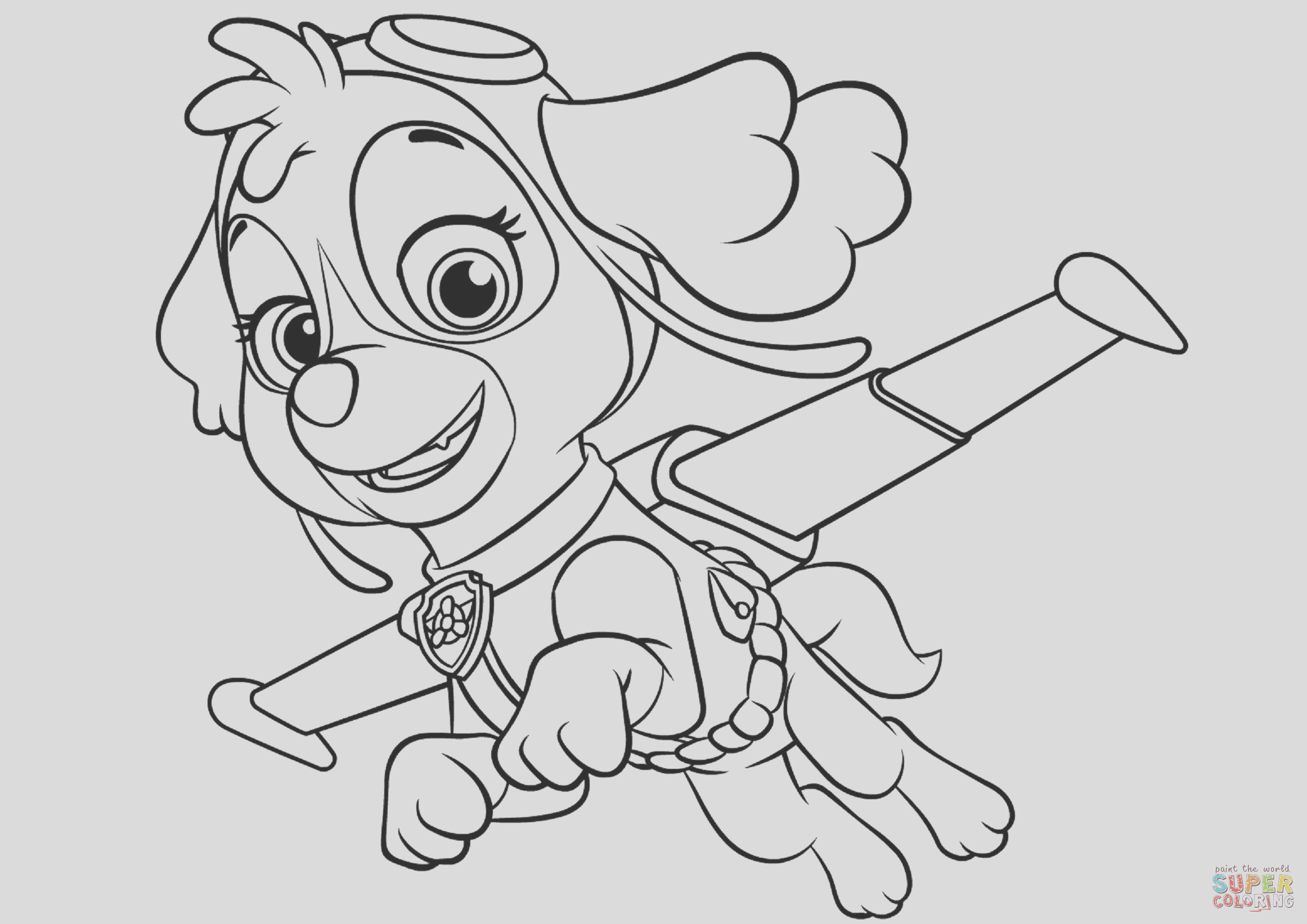 everest paw patrol coloring pages