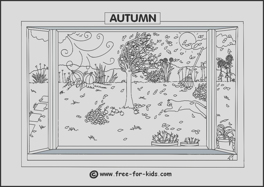 seasons colouring pagestml