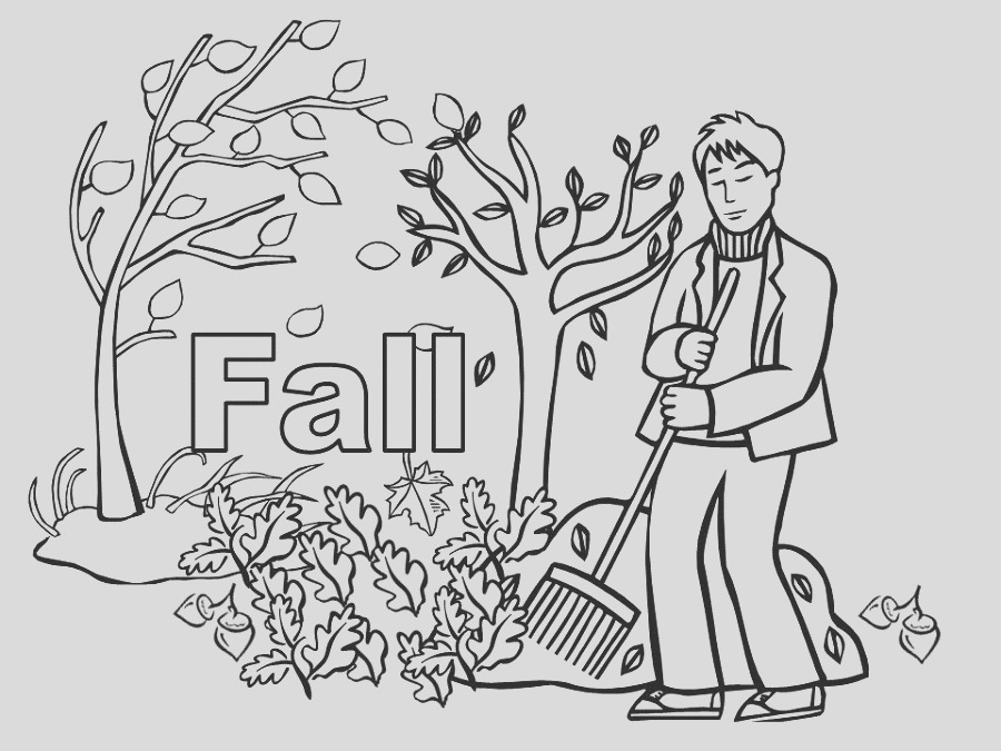 adorable fall coloring pages for children