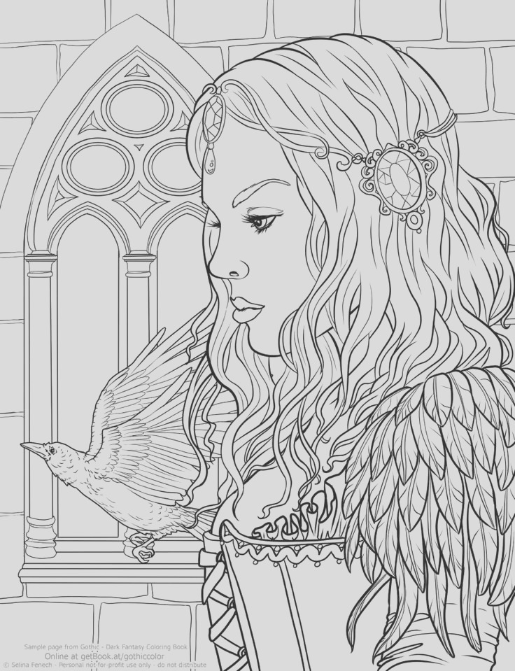 fantasy coloring pages for adults