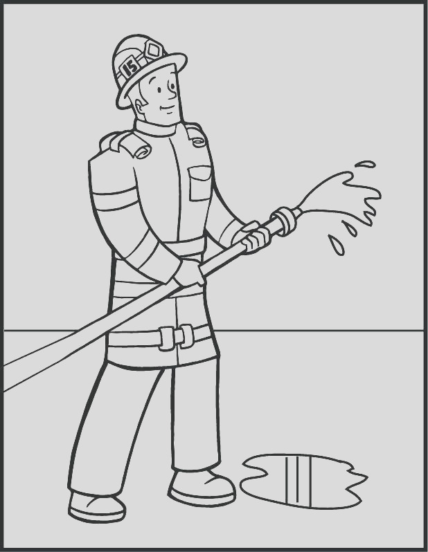 fireman hat coloring page