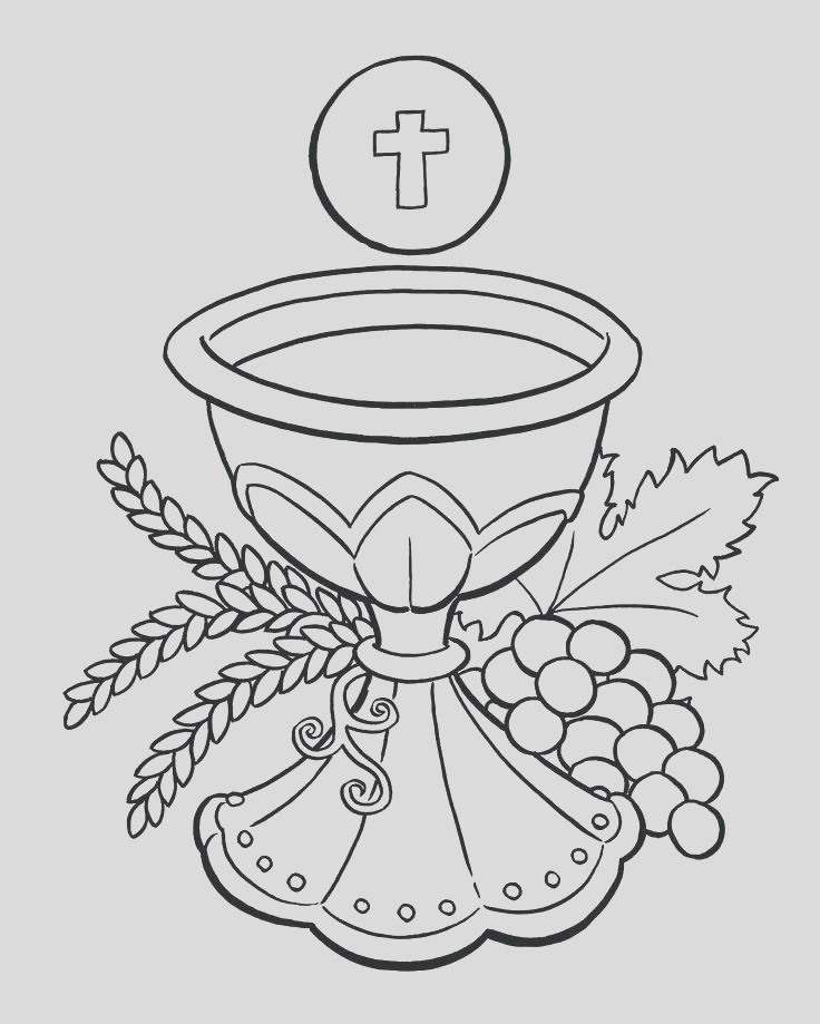 first munion coloring pages