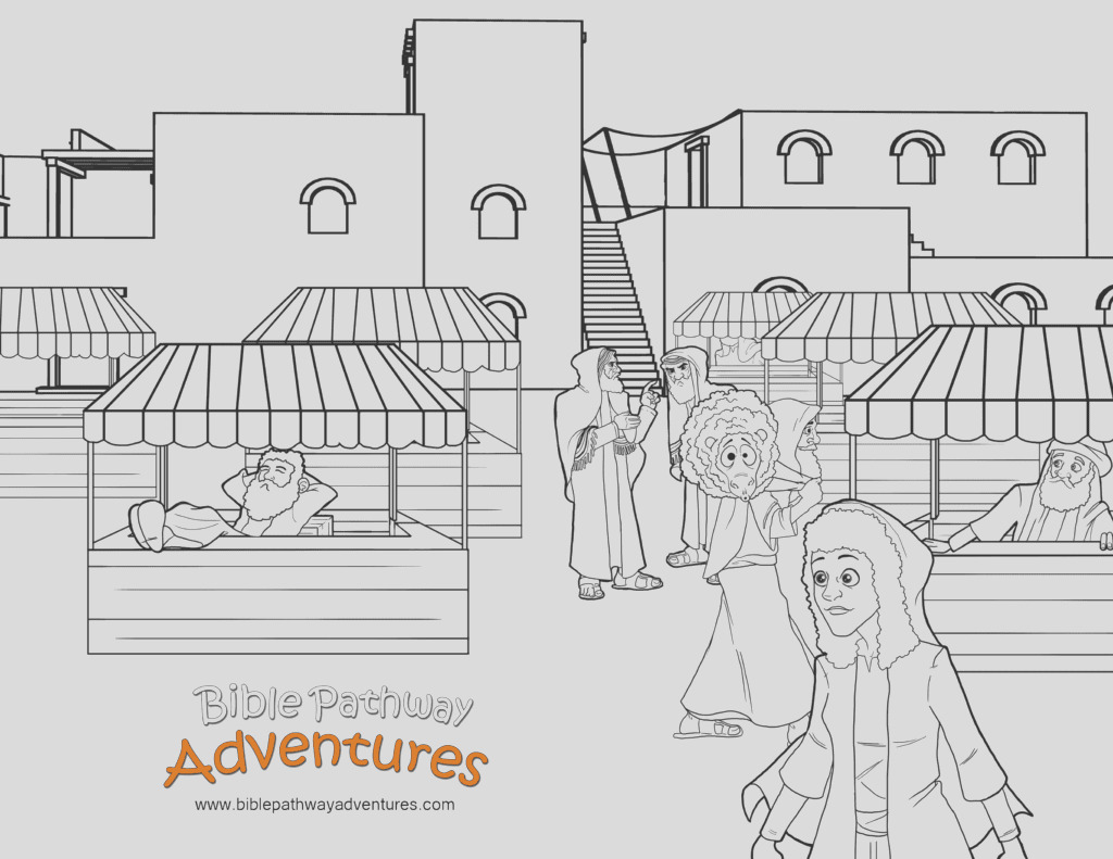 free coloring page passover market 1 cp