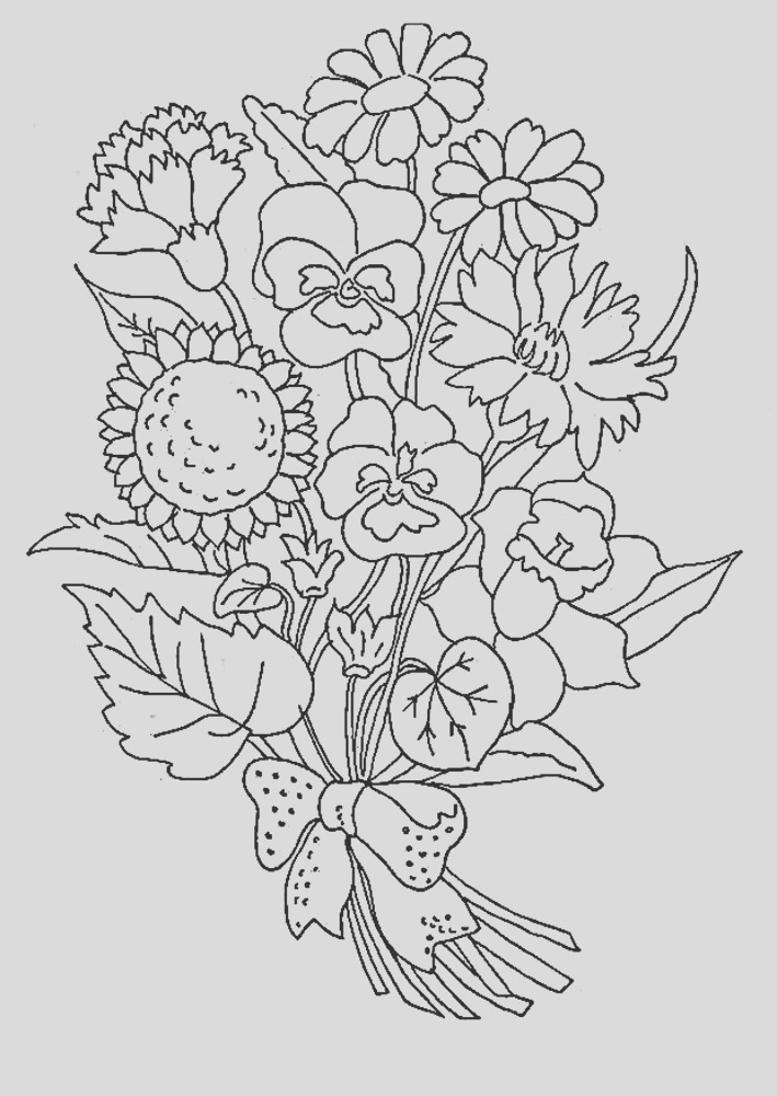 bouquet flowers coloring pages