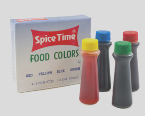 spice time food coloring 4 pack 4384