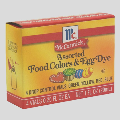McCormick Food Colors Egg Dye Four Assorted 025Ounce Vials Pack