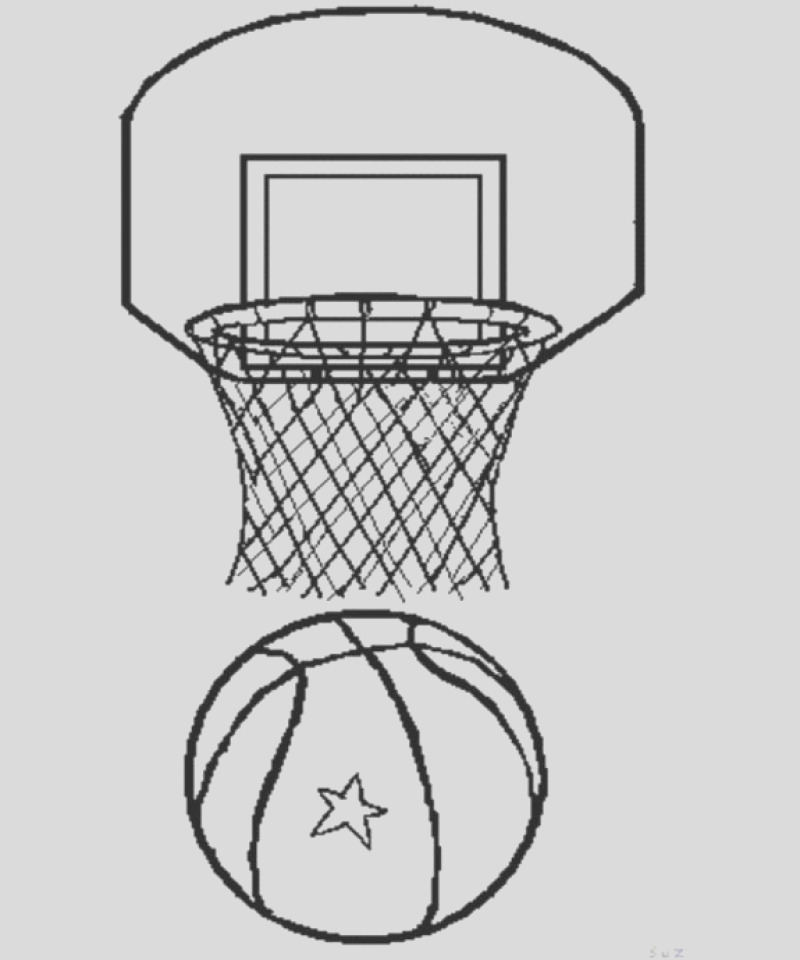 free basketball coloring pages