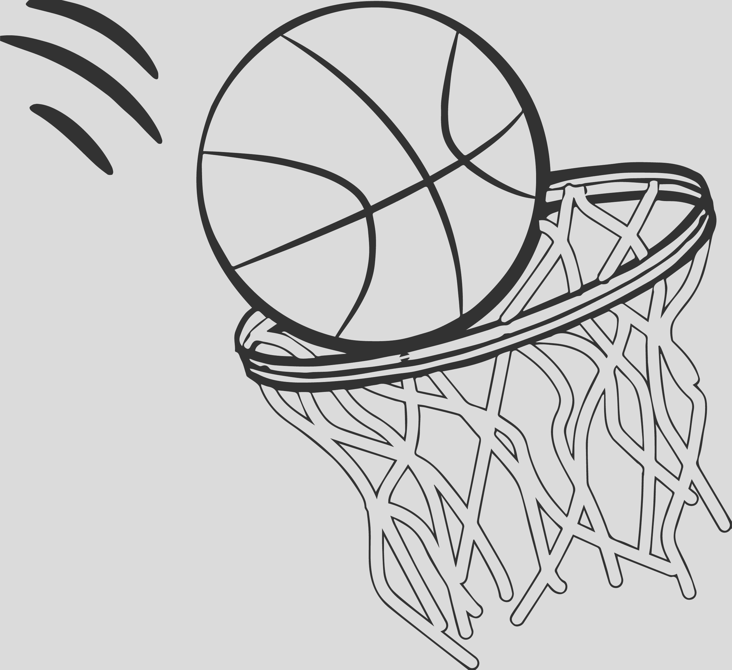 basketball free coloring page