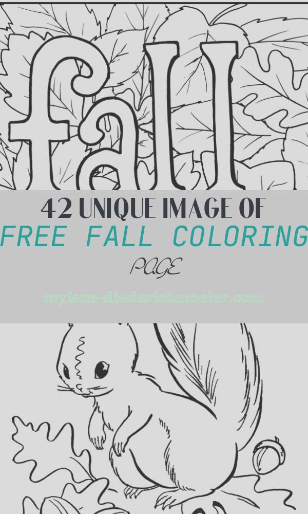 Free Fall Coloring Page New 4 Free Printable Fall Coloring Pages
