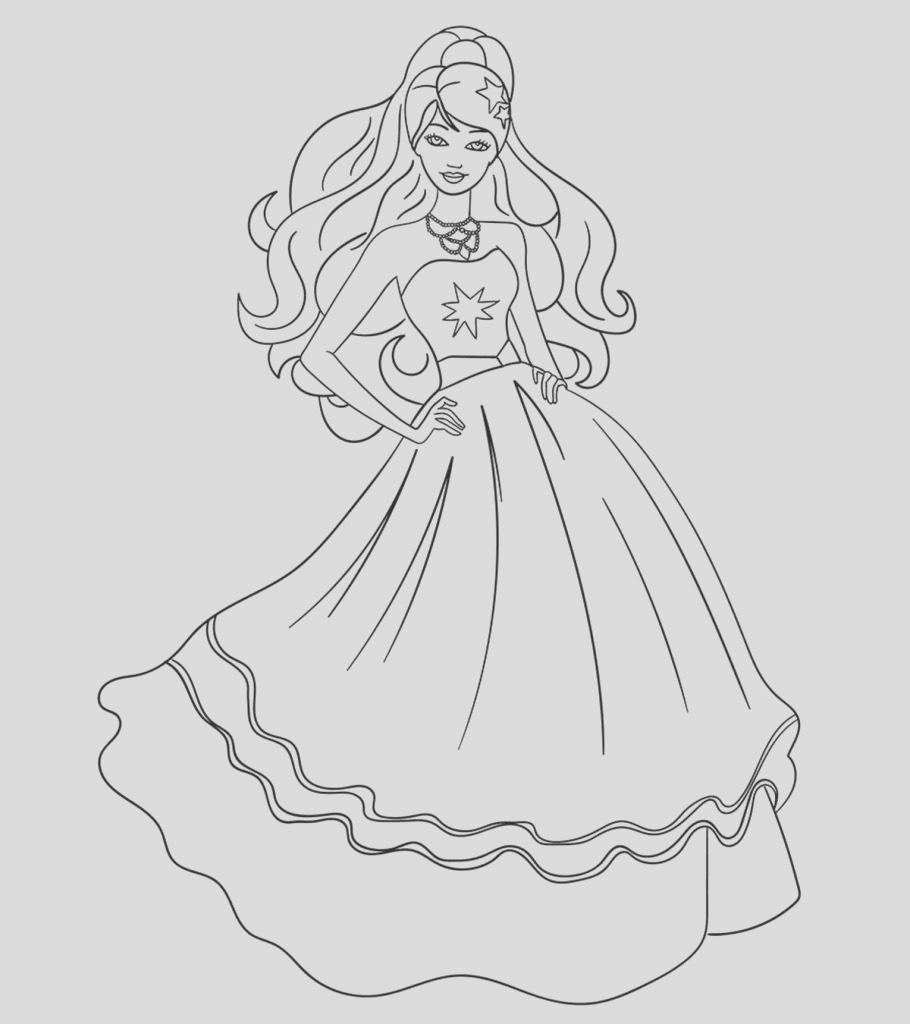 beautiful barbie coloring pages your kids will love