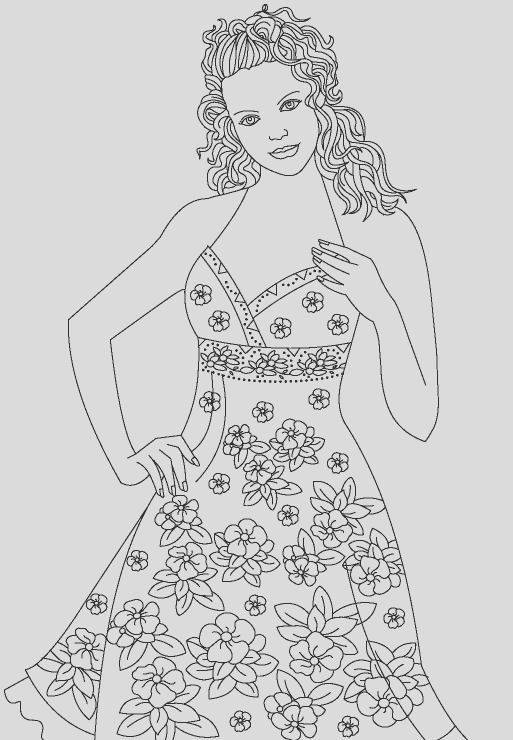 top model coloring pages