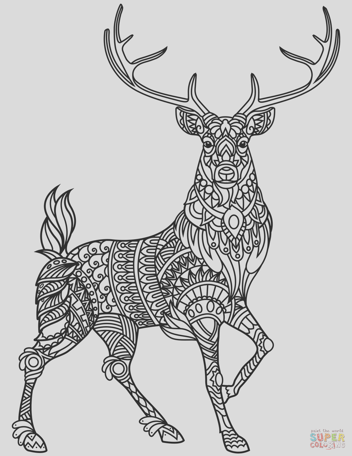 deer zentangle