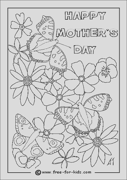 mothers day colouring pagestml