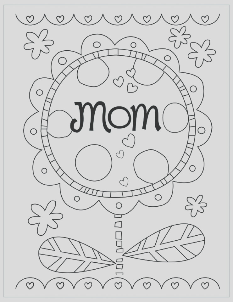 preschool coloring pages of mothers day free to print out