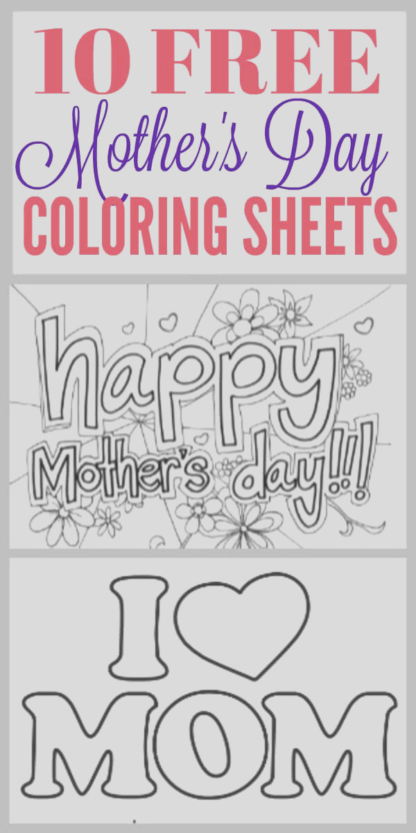 10 free mothers day coloring sheets