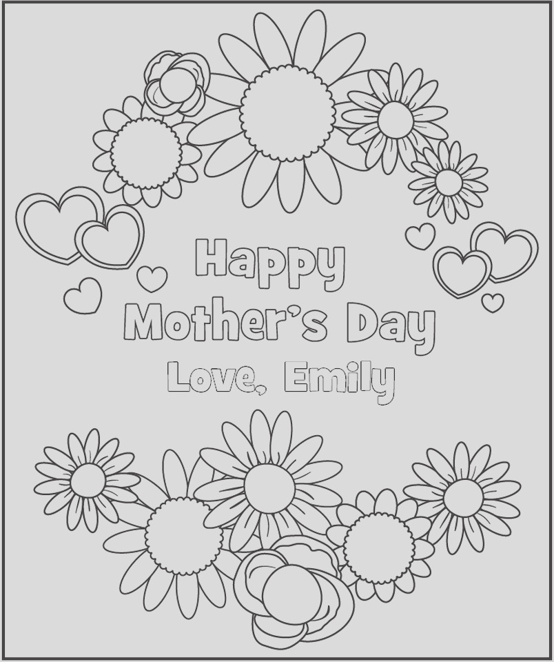 free mothers day printable coloring pages