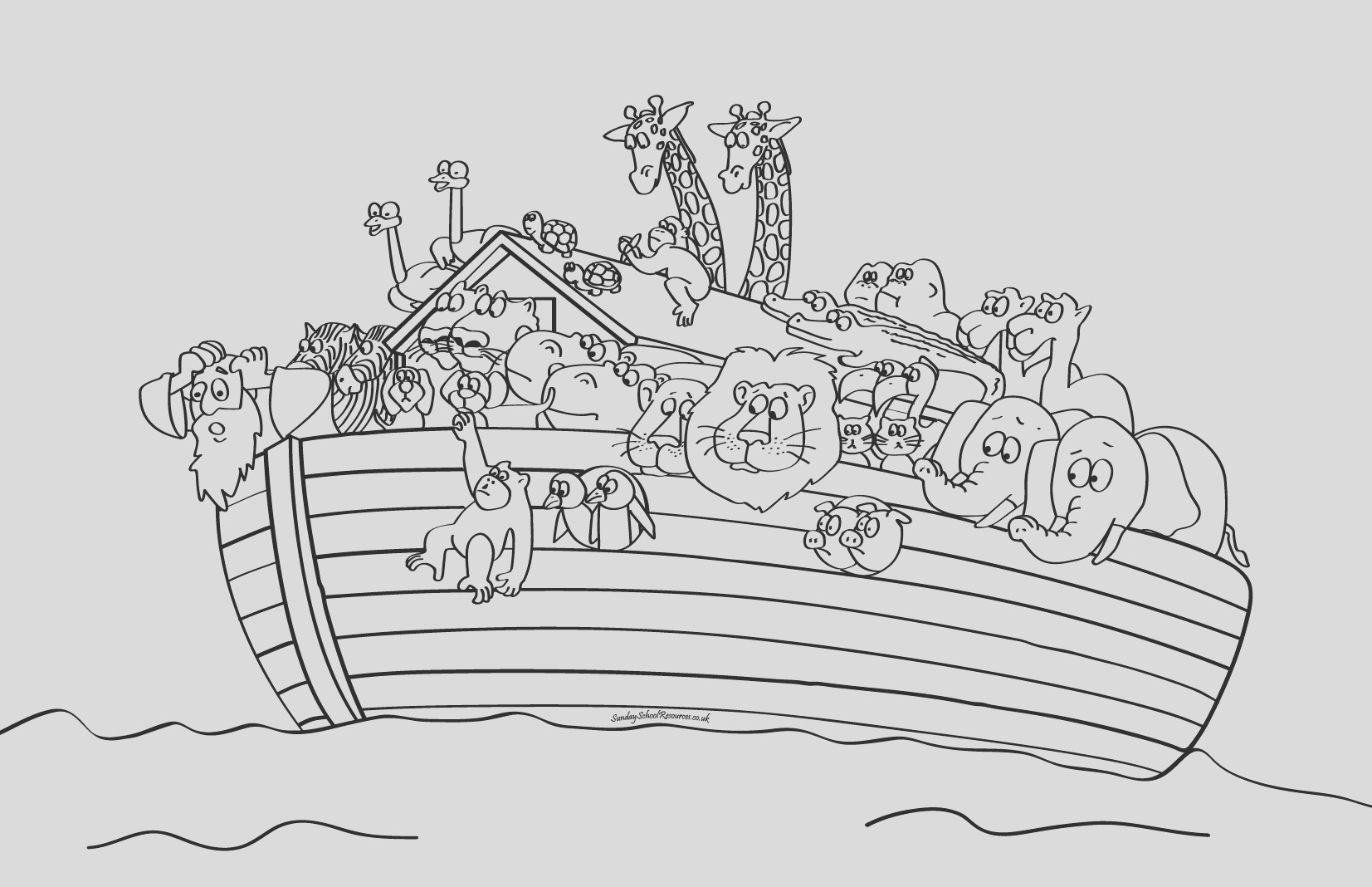 noahs ark boat coloring pages