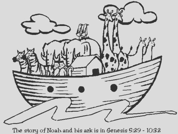 free christian coloring pages noahs ark