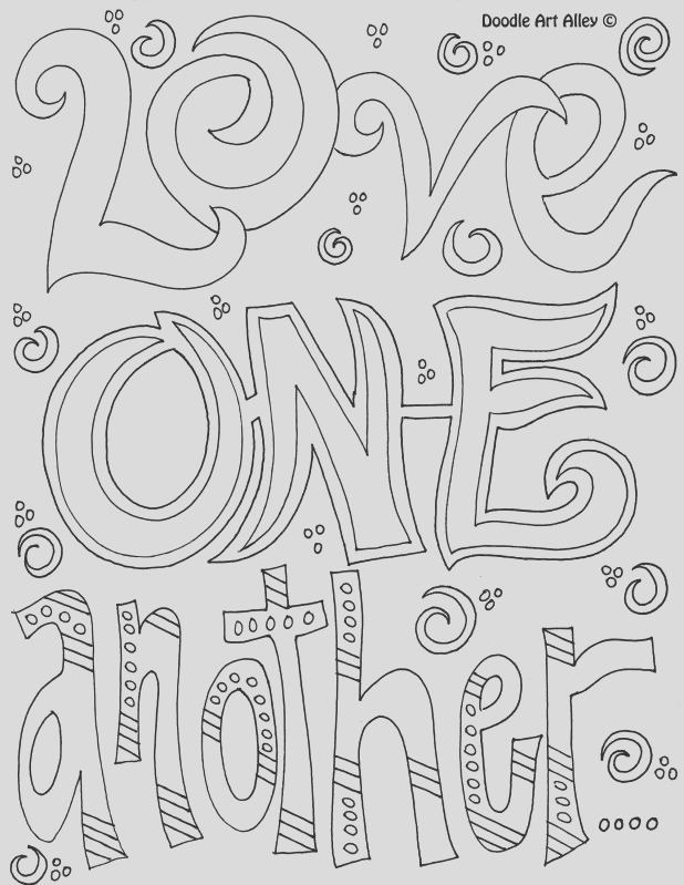 printable coloring quotes love