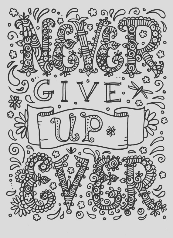 quote coloring pages for adults and teens