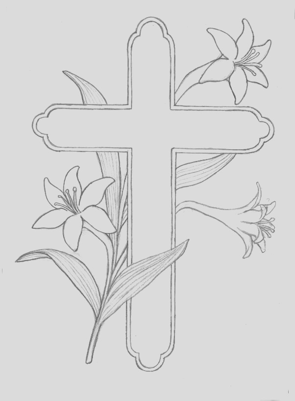 religious easter colouring in pages