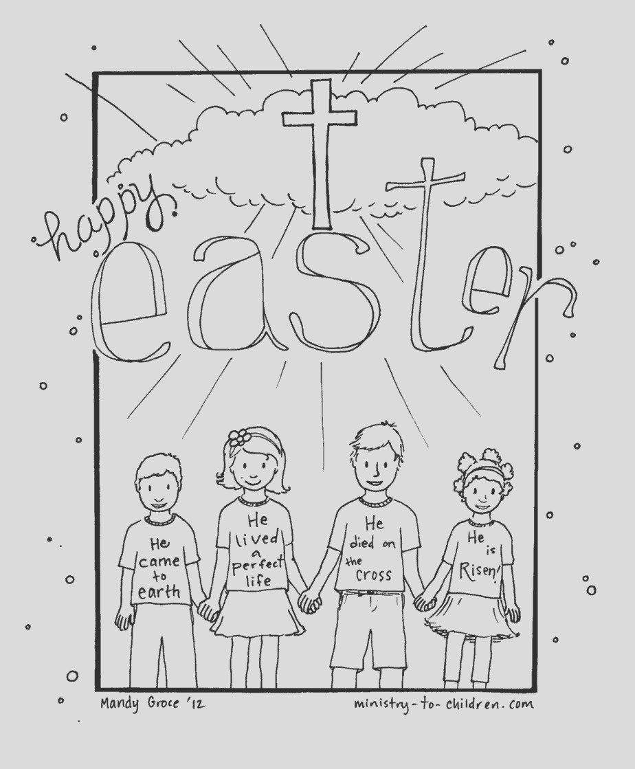 happy easter coloring sheet