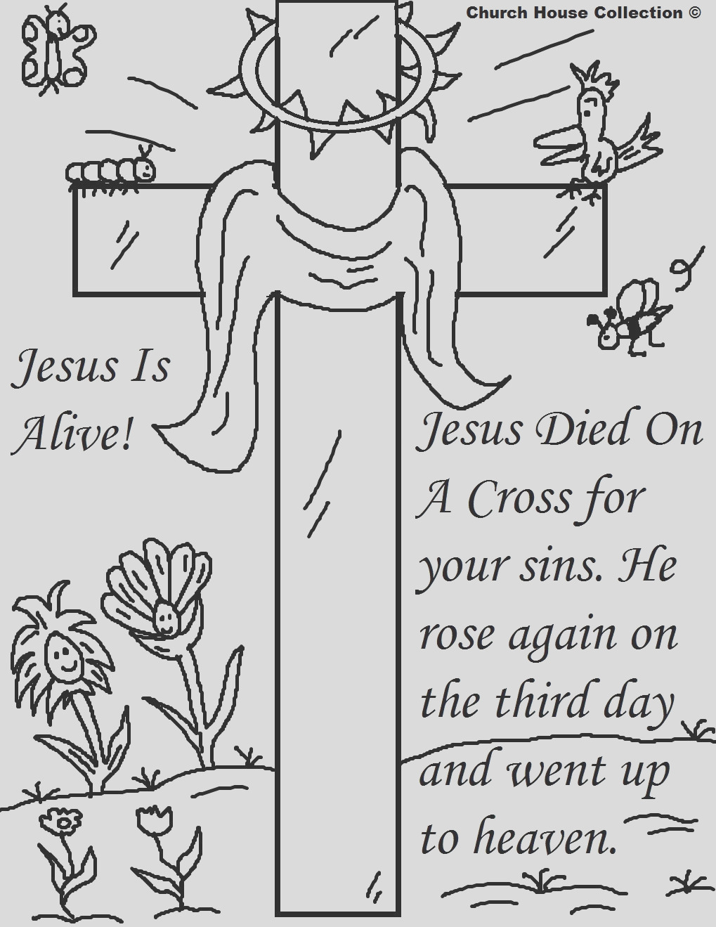 religious easter coloring pages 2